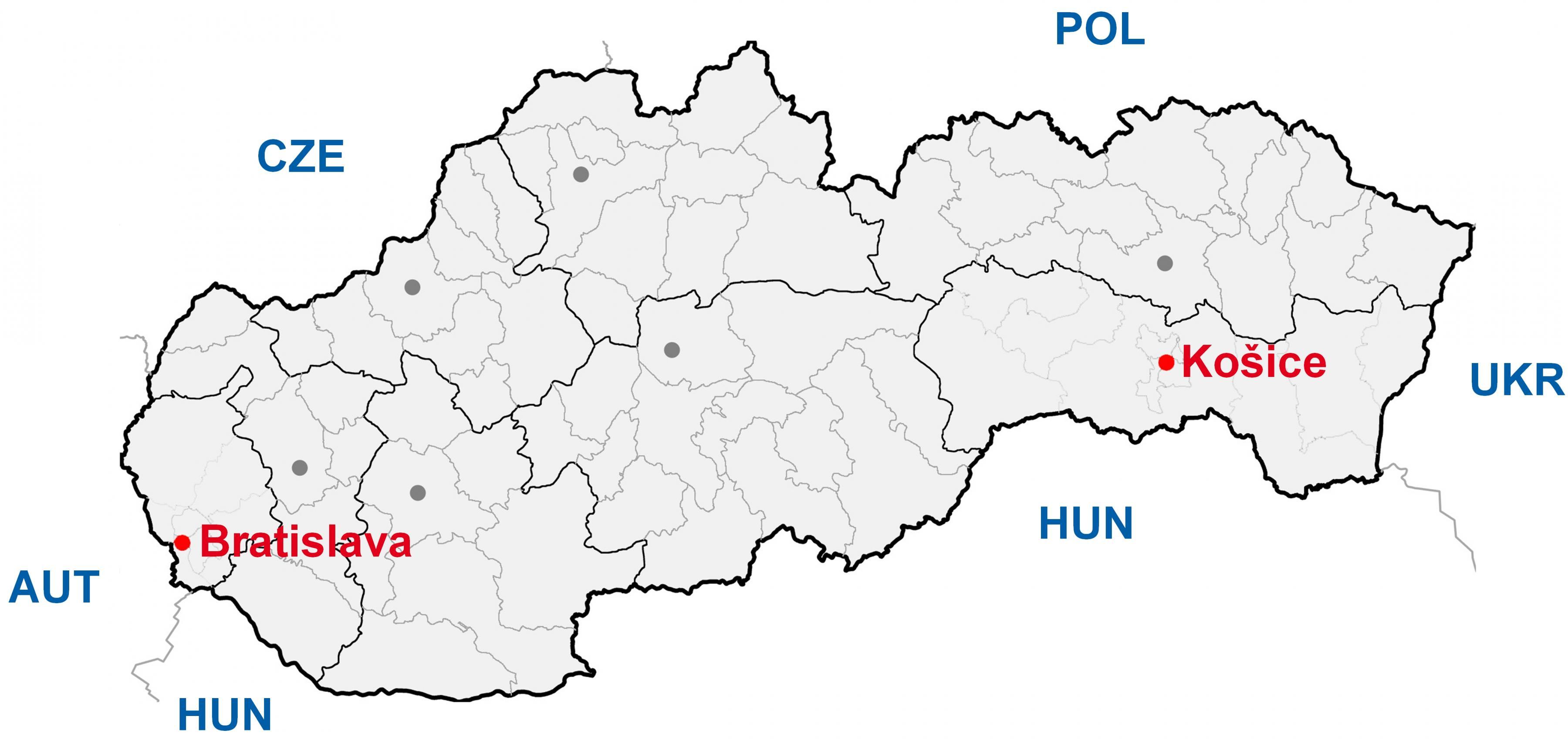 Kosice Slovakia Kartta Kartta Kosice Slovakia Ita Eurooppa